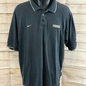 Nike Team Purdue Black Polo Shirt